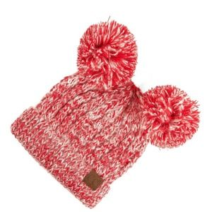Double Pompom C.C. Beanie  Adult. Red